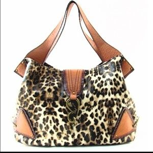 Jessica Simpson Leather Cheetah Purse